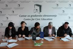 Potpisivanje ugovora sa OCD ciji su projekti podrzani na konkursu