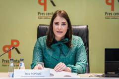 Prezentacija istrazivanja javnog mnjenja, konferencija za medije, Podgorica, 14.03.2020.